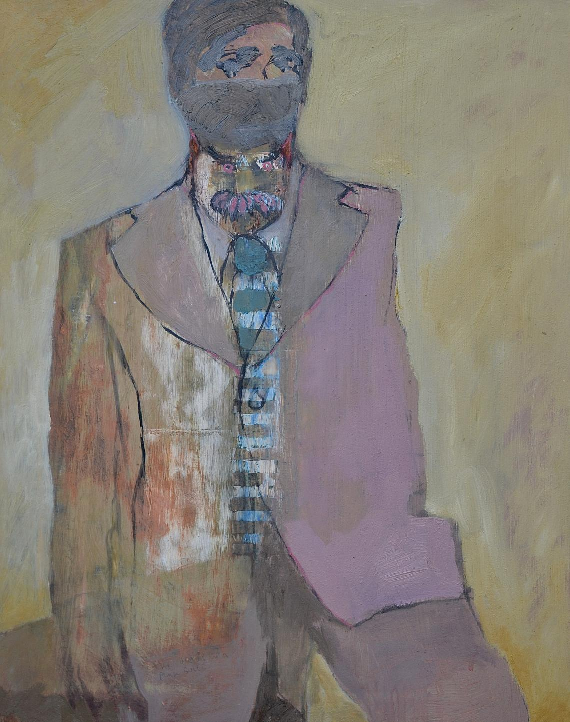 Devil in a Pink Suit, painting by Richard Ballinger